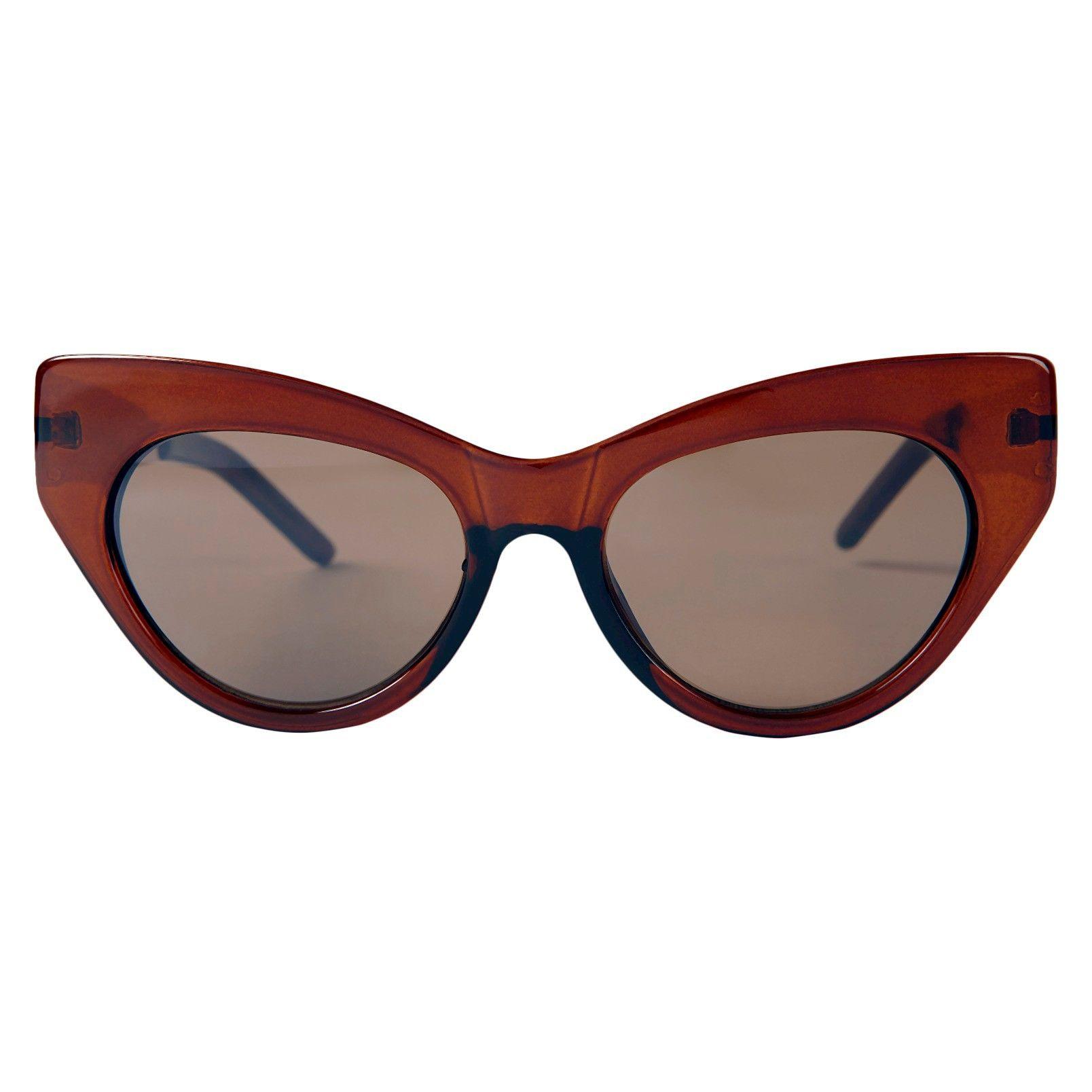 Women's Retro Cat Eye Sunglasses - Brown