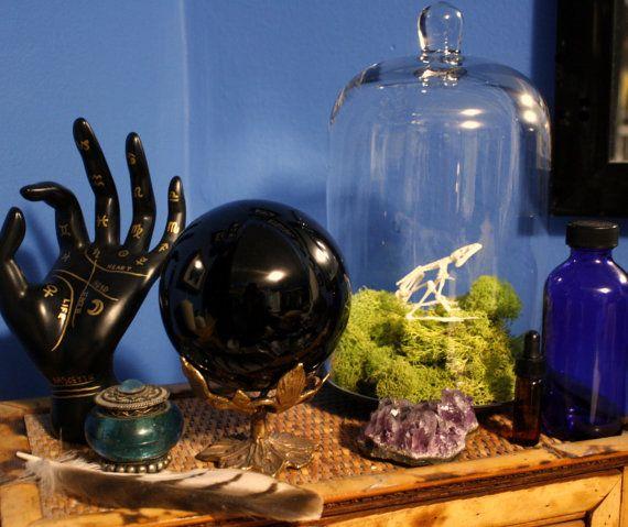 4 Obsidian Scrying Sphere par HerbAndStoneGallery sur Etsy