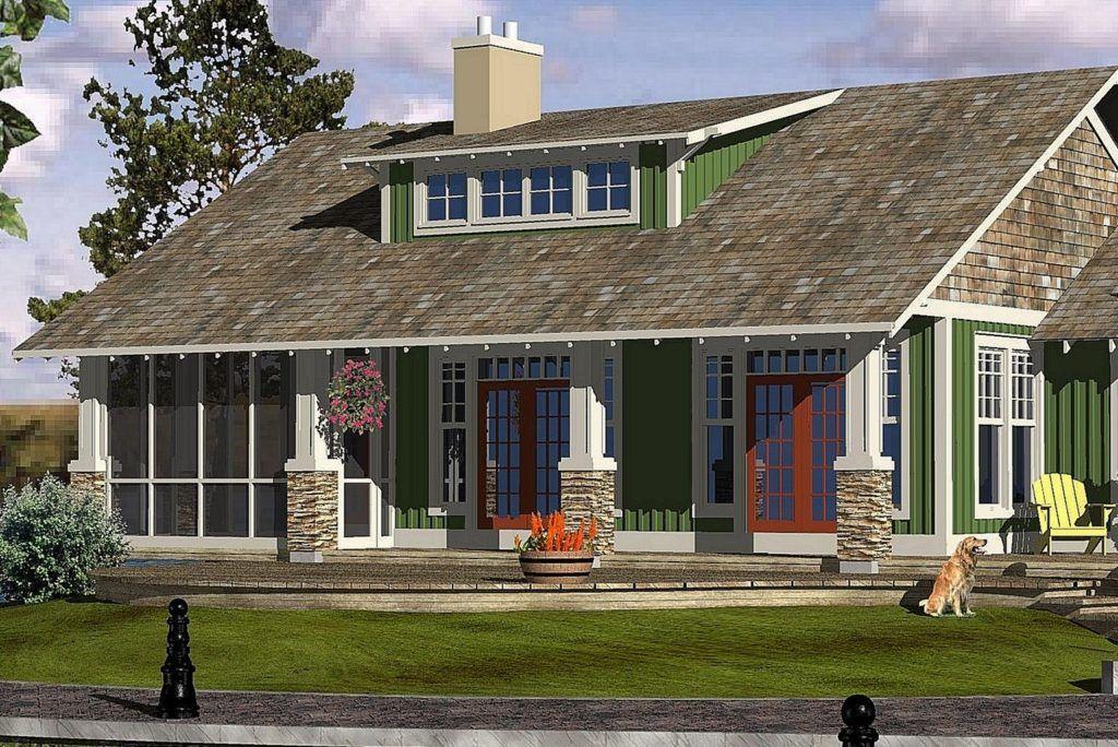 Cottage building plan E 1681