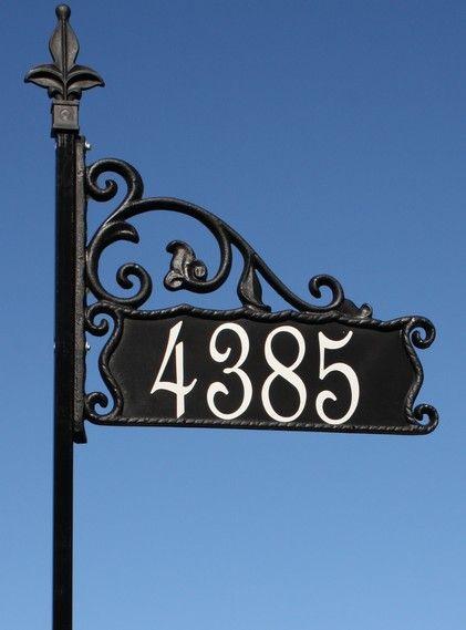 House Numbers Yard Sign Mao Francesa Casas Grades De Ferro
