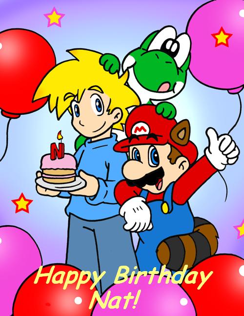 happy birthday nat by Nintendrawer Princess daisy, Mario