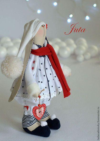 Игрушки животные, ручной работы. Ярмарка Мастеров - ручная работа. Купить Зайка Juta -рождественский эльф !  39 см. Handmade.