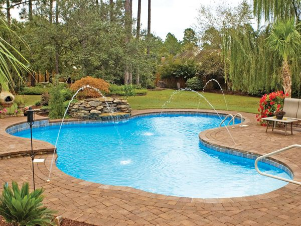 Pool Gallery Pacific Pools In Ground Pools Inexpensive Inground Pools Swimming Pools Backyard Latham Pool