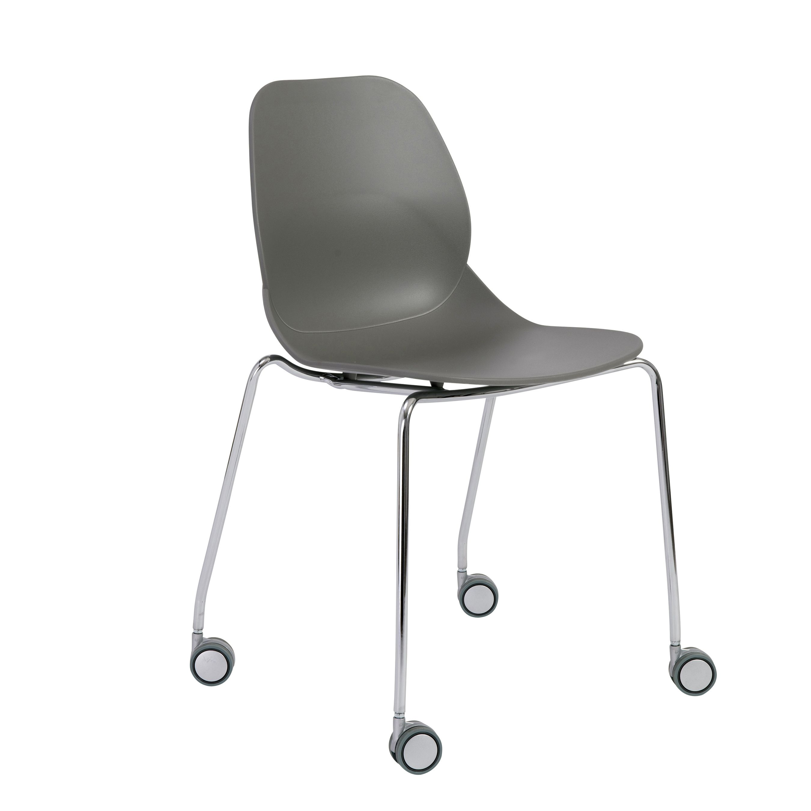 Euro Style / Chrome Teven Visitor Chair