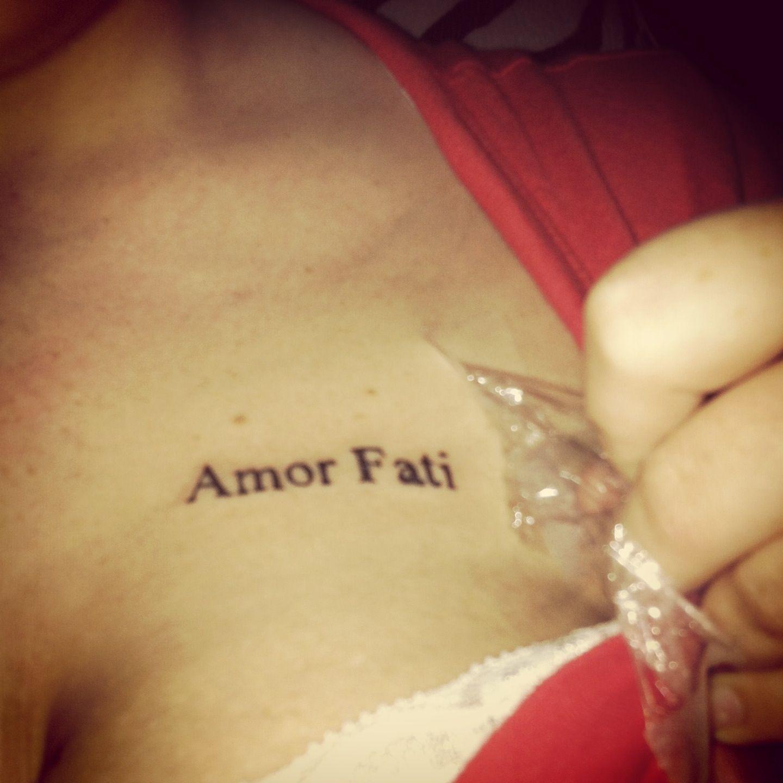 """""""Amor fati"""" Tattoo script, Forearm script tattoo, Amor"""