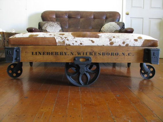 repurposed authentic original lineberry industrial/railroad