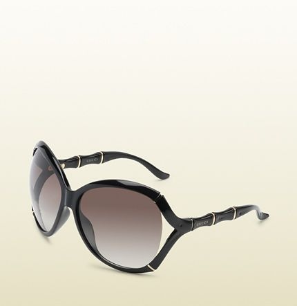 72c2d7700bc Gucci - oversized oval frame sunglasses with bamboo effect with gucci logo  on temples. 289669J16911005