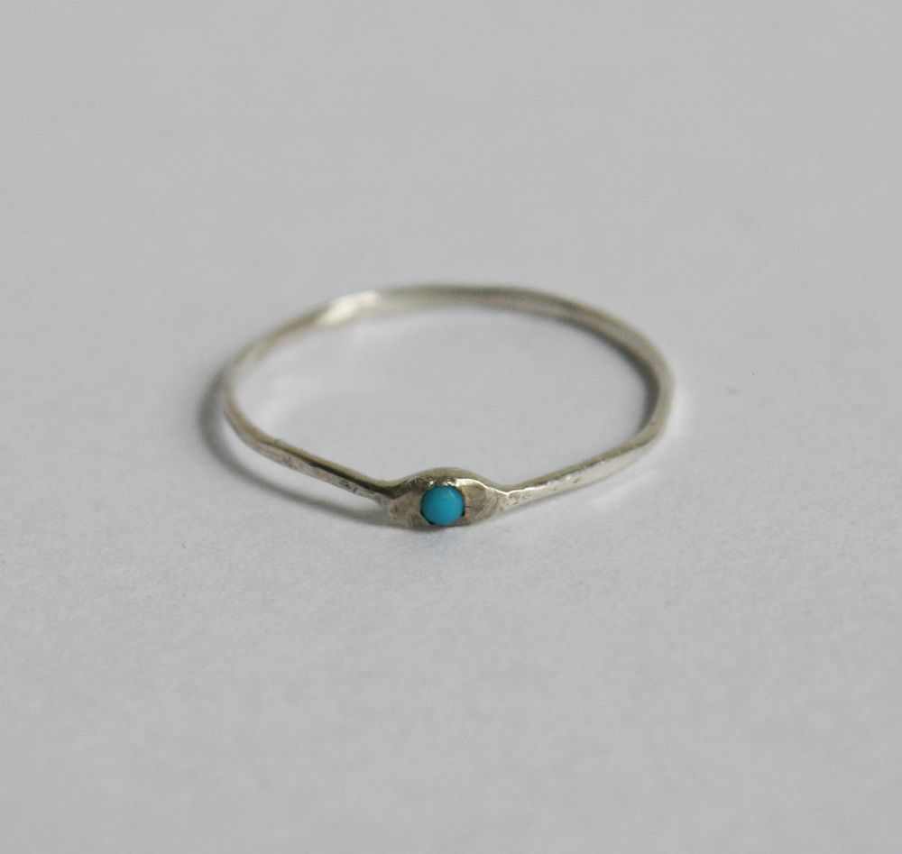 Pale Blue Dot ring | sterling silver and turquoise