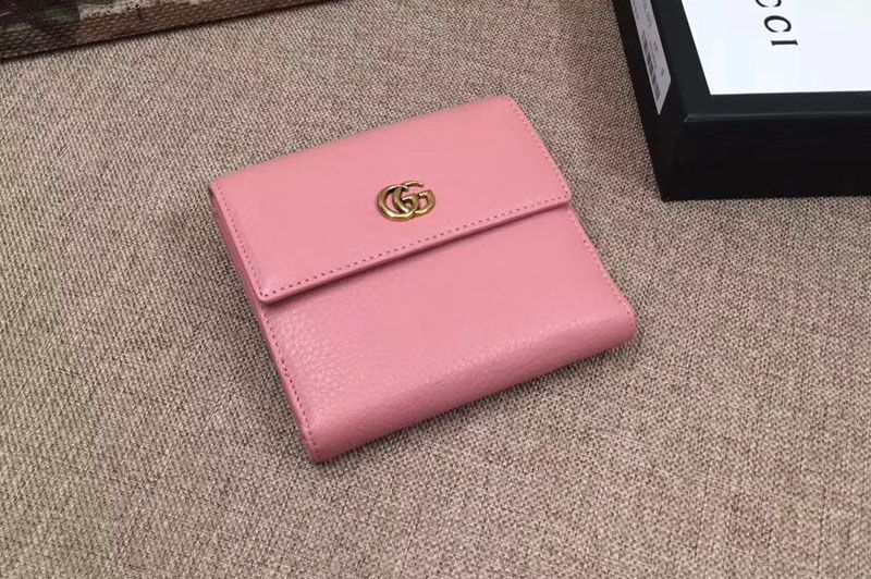 0af7f6554ca Replica Gucci 456122 Leather french flap wallet Pink … Continue reading →