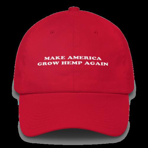 Make America Grow Hemp Again Red Dad Hats Alabama Hats Sorority Hat