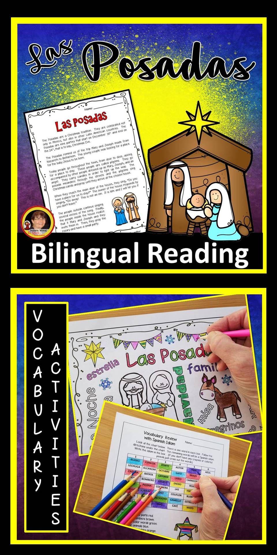 Workbooks las posadas worksheets : Spanish Las Posadas | Language classes, Spanish language and Spanish