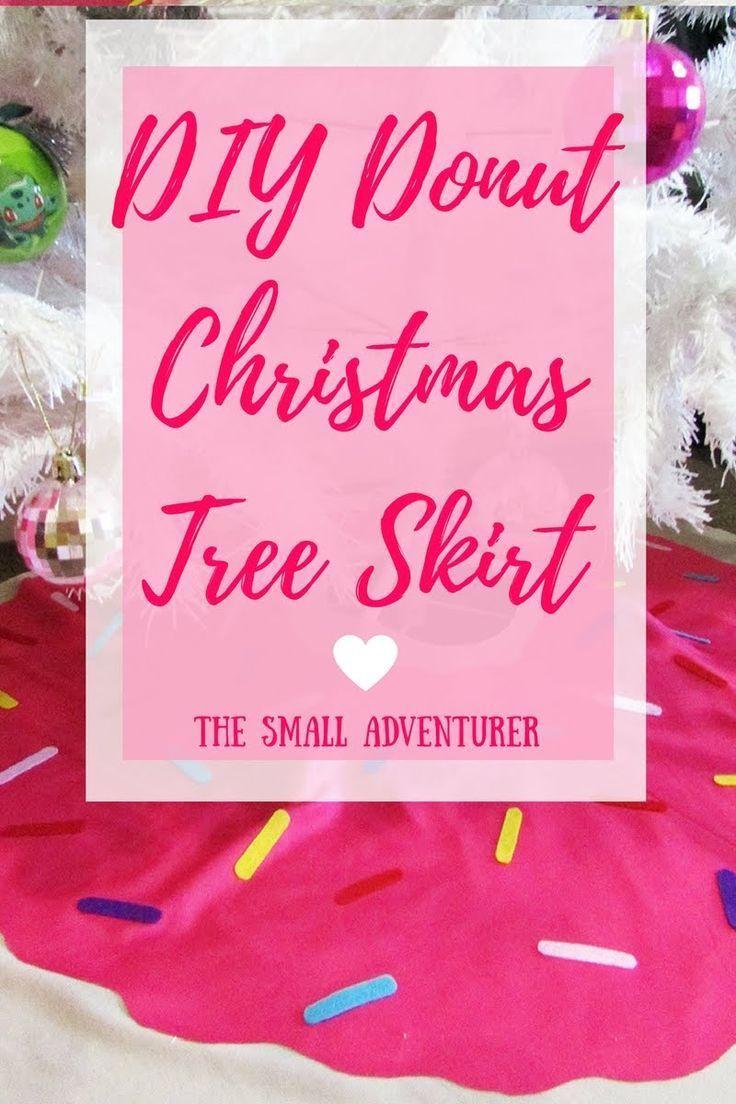 DIY Donut Christmas Tree Skirt Super Easy  The Small Adventurer
