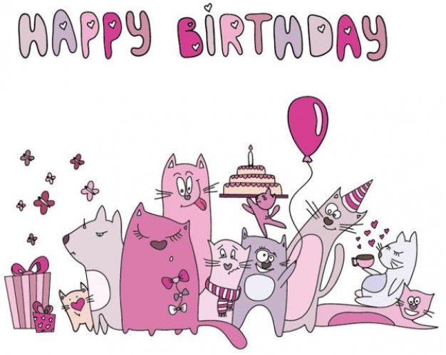 Cartoon cat cards vector hpy bd pinterest cat cards happy cartoon cat cards vector bookmarktalkfo Choice Image