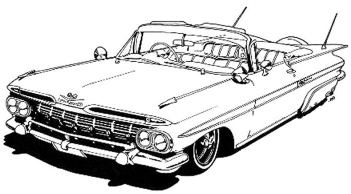 Mustang Lowrider Coloring Page
