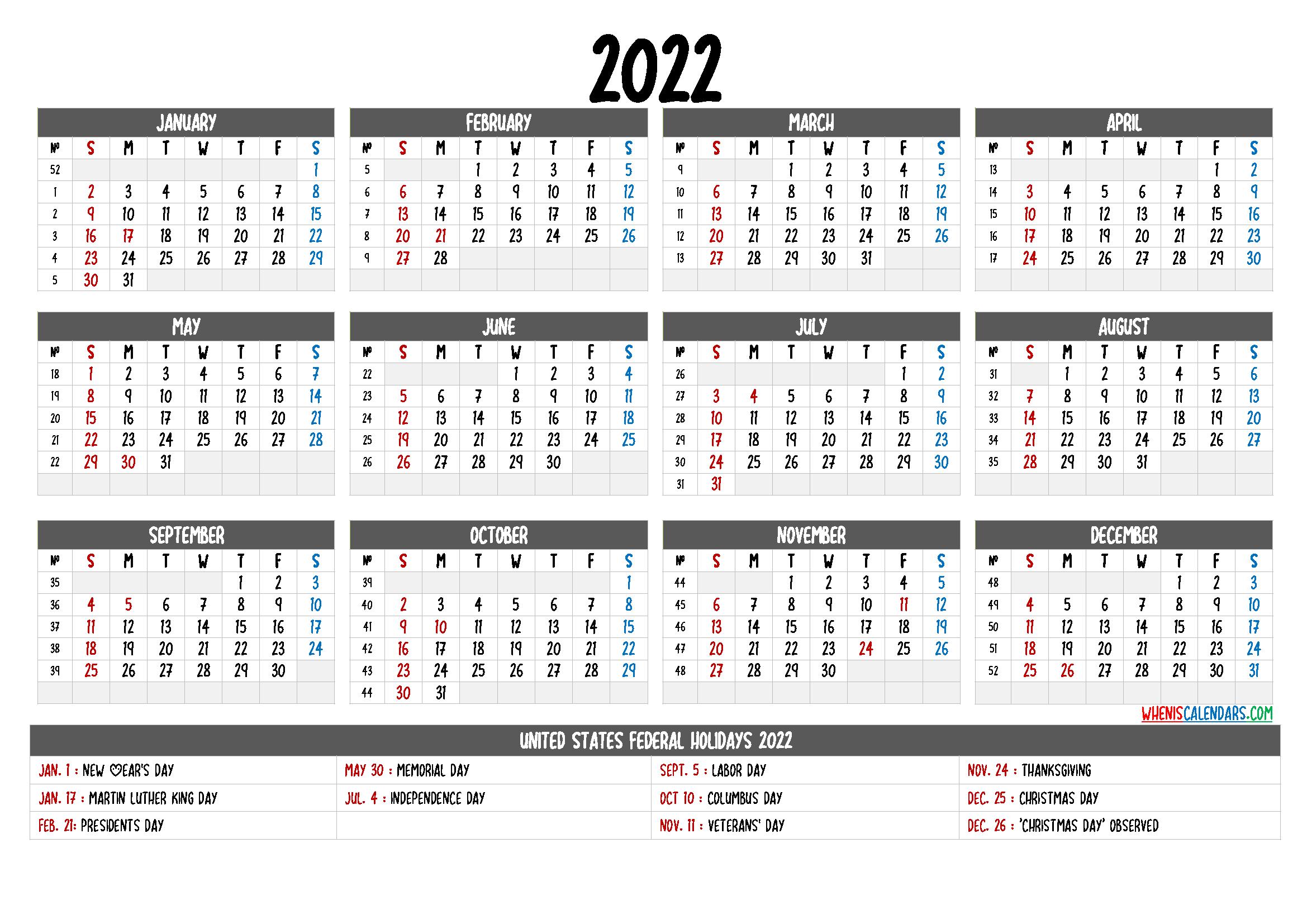 Free Printable Blank Calendar 2022.Free Printable Yearly Calendar 2022 6 Templates Yearly Calendar Template Printable Yearly Calendar Calendar Printables