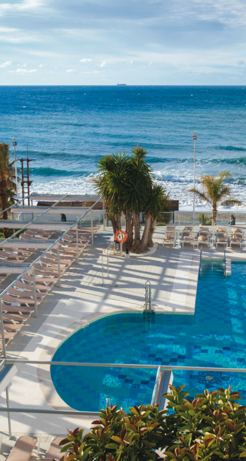 Riu Monica Located In Torrecilla Beach In Nerja Spain Has Been Completely Renovated In 2016 And Recommended For Adults Onl Hotel Riu Spain Hotels Nerja Spain