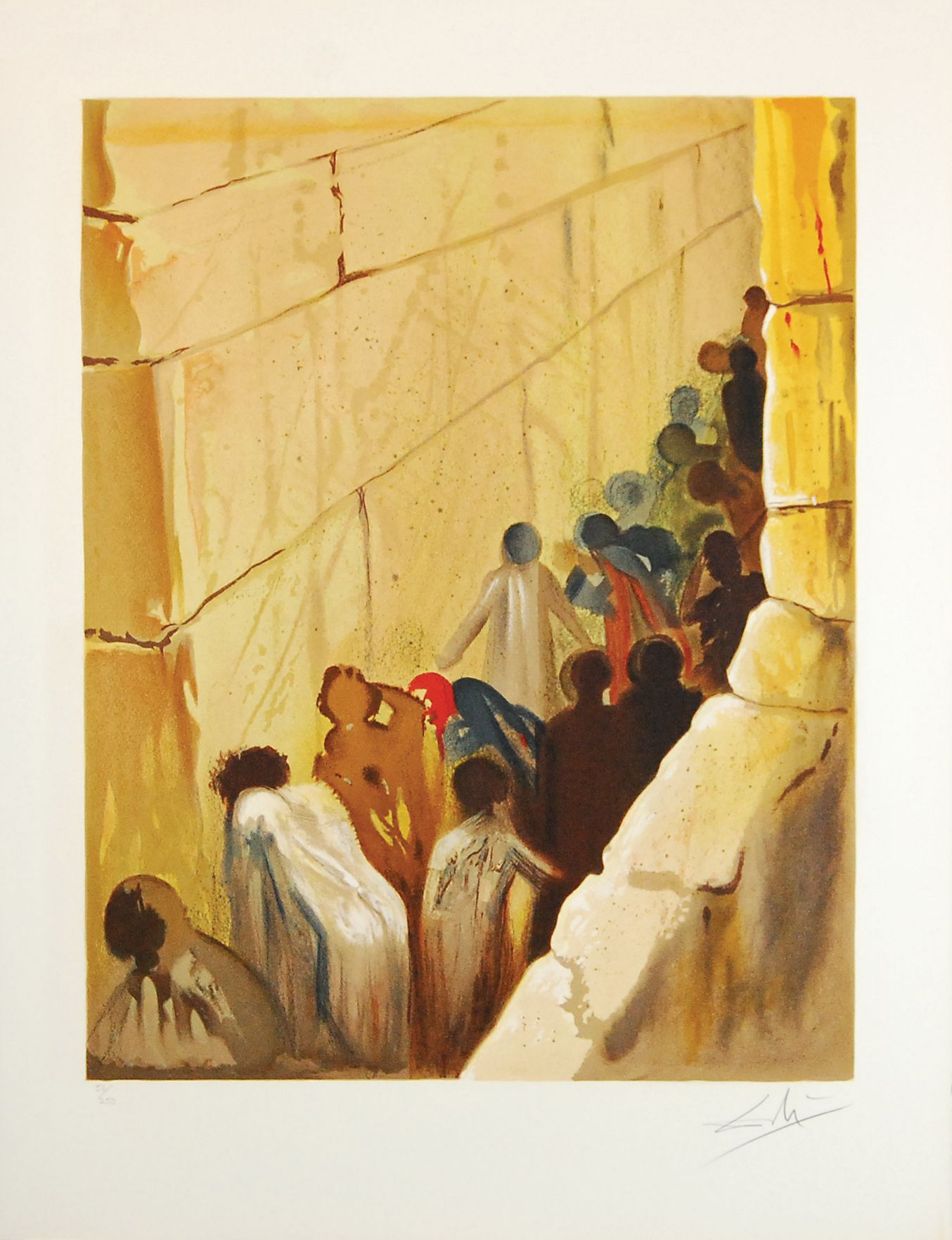 The Wailing Wall by Salvador Dali   Top 4 Masters of the 20th ...