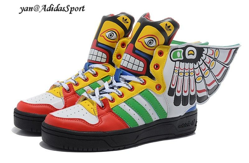 605b643de09a Jeremy Scott x Adidas Originals JS Wings 2.0 Indian Style colorful Shoes HOT  SALE! HOT PRICE!