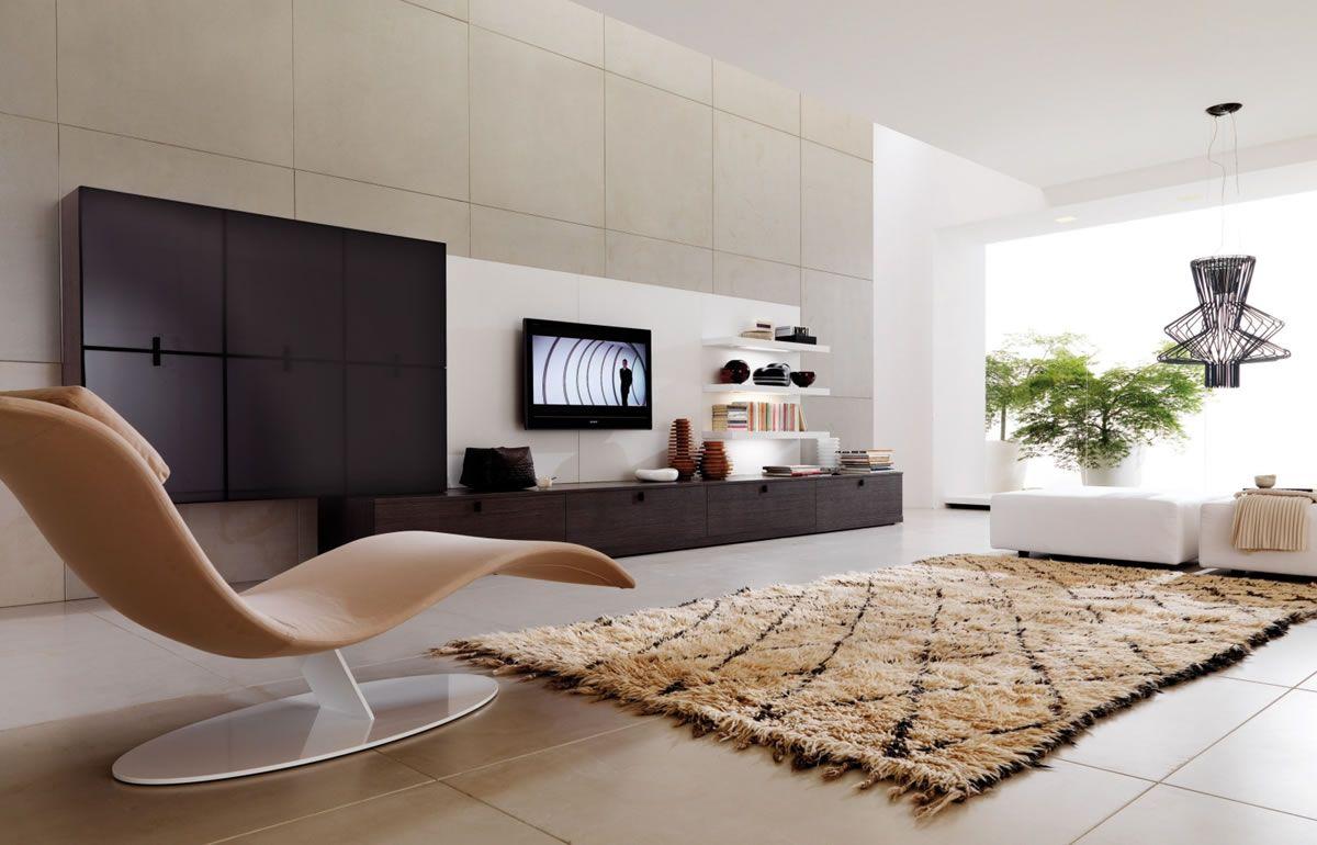 Interior design-ideen wohnzimmer mit tv wonderful modern design funiture brown lounge white interior
