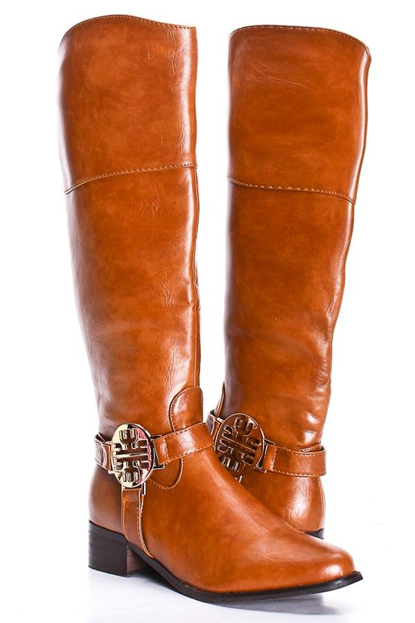 cognac crinkle faux leather knee high boots boots
