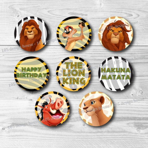 Super The Lion King Cupcake Toppers Printable 2 Cupcake Toppers The Funny Birthday Cards Online Barepcheapnameinfo