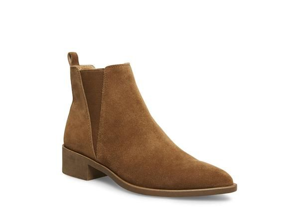 131c6a647fcd JERRY COGNAC SUEDE - Steve Madden 5 Inch Heels, All Black, Chelsea Boots,