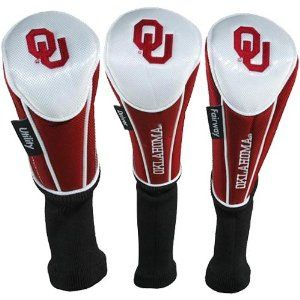 Oklahoma Sooners 3-Pack Crimson-White Golf Club Headcovers by Football  Fanatics. $44.95. 100% Nylon shell. Quality embroidery. Soft fleece lining.
