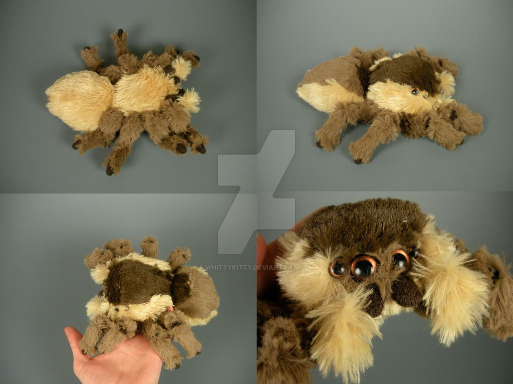 Mini Jumping Spider Plushie by WhittyKitty.deviantart.com on @DeviantArt