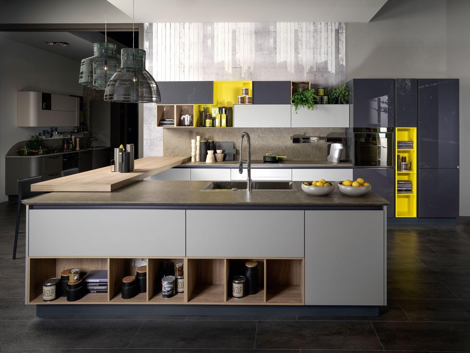 Cucina a vista e soggiorno insieme. Progetto in pianta | Set ...