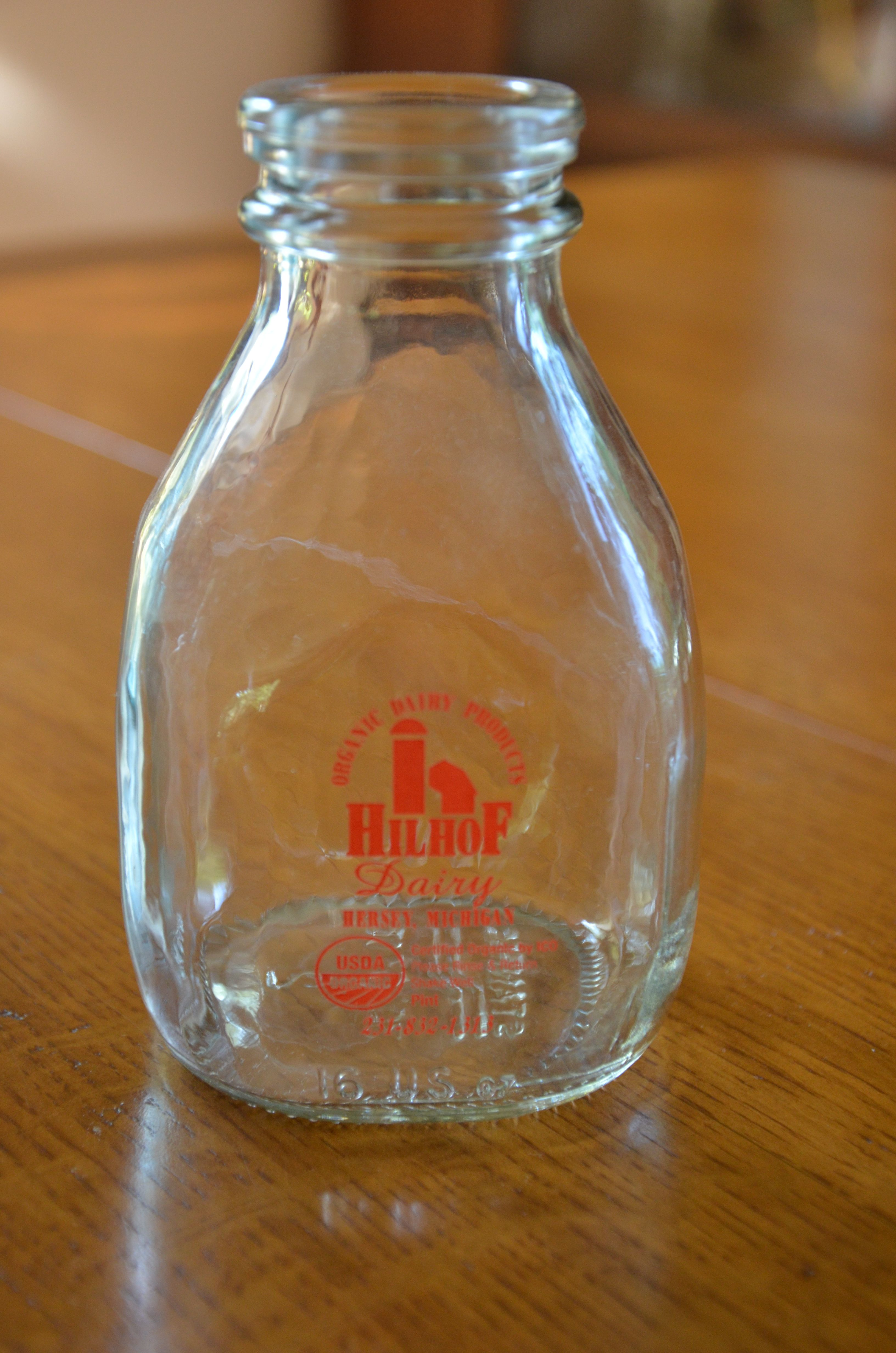 Glass 1/4 (Quarter) Pint antique vintage Milk Bottle | Pinterest ...