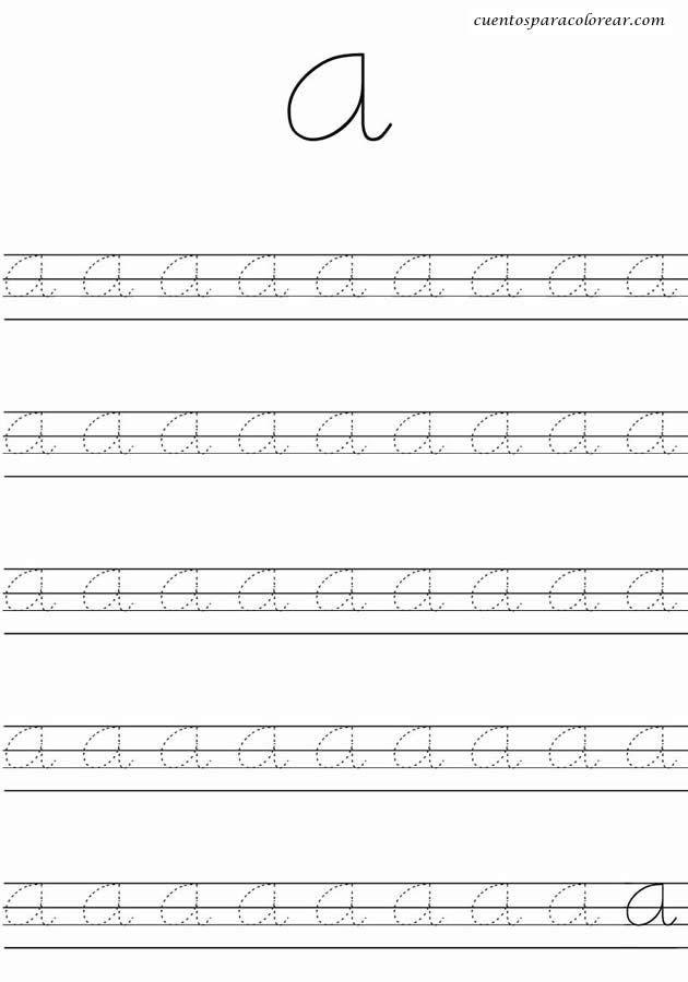Caligrafia Para Imprimir Nocturnar Letter Writing Practice Cursive Letters Writing Practice