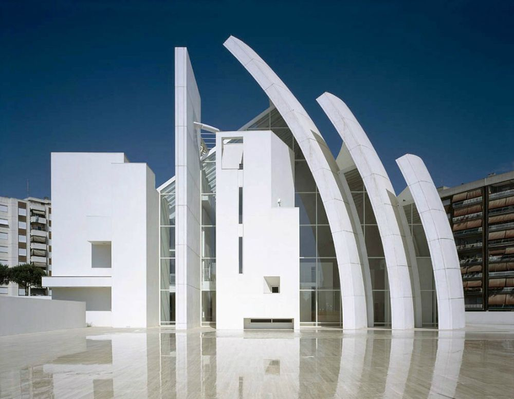 Modern Architecture Usa iconic modern architecture-jubilee church in romerichard meier
