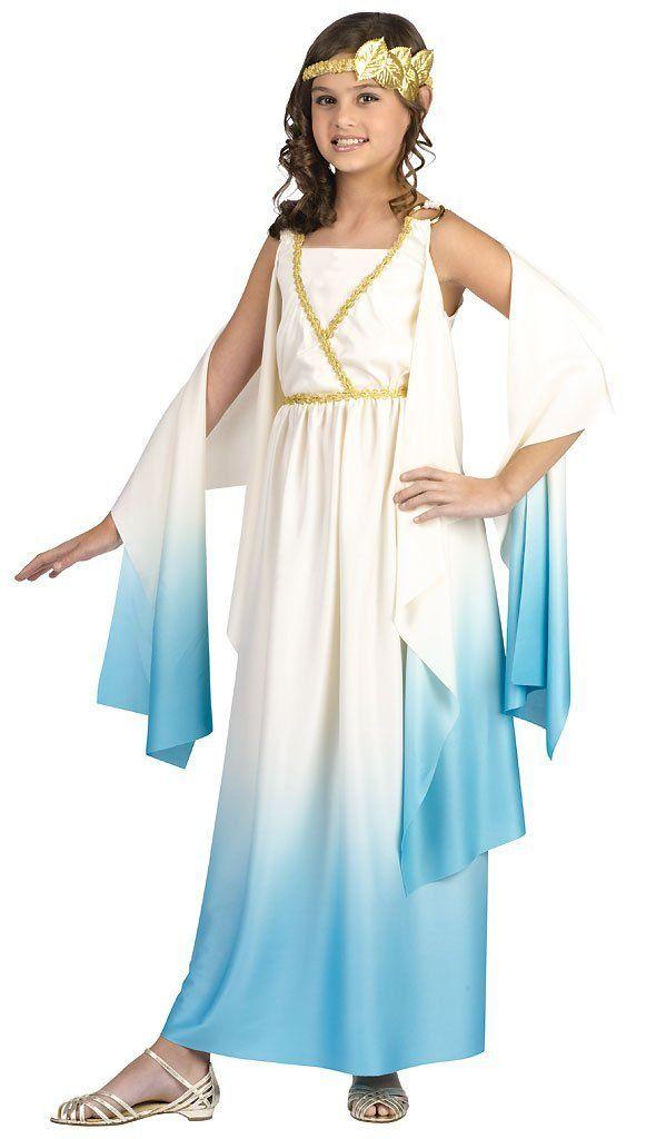 47e18920114 Athena Greek Goddess Costume for Kids Girls Children Blue | Greek ...