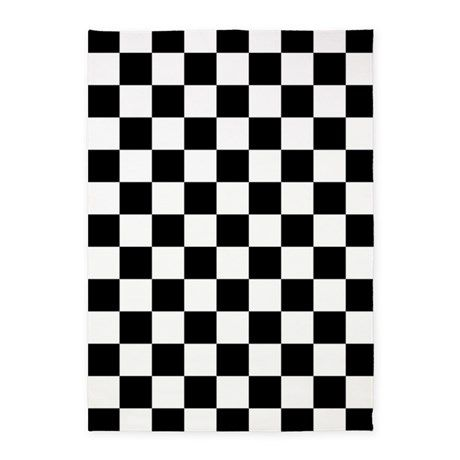 Black And White Checkered Pattern 5 X7 Area Rug By Beautifulbed Black White Pattern Area Rugs