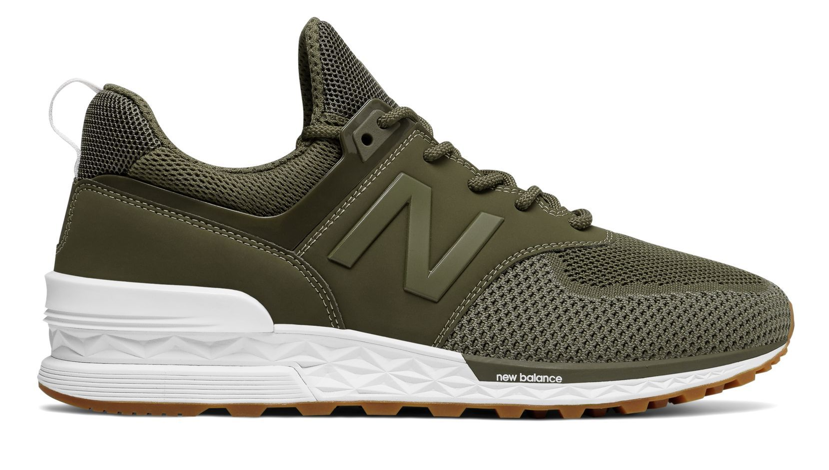 New Balance 574 Sport, Triumph Green with Covert | rags