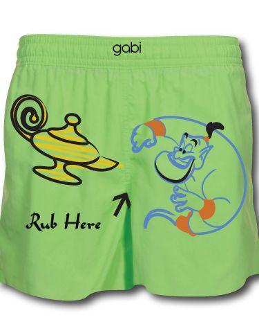 ae206b93c04 Aladdin Green Boxer Shorts Mens Fashion, Fashion Outfits, Swim Trunks, Funny  Underwear,