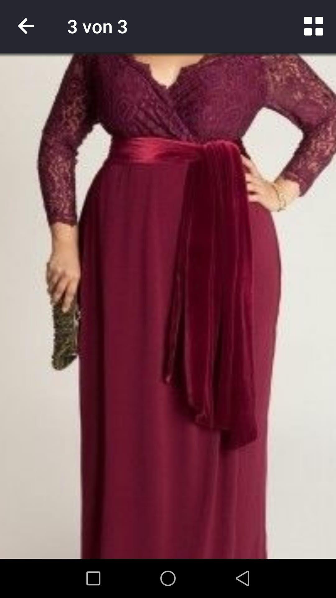 Biete ein Abendkleid in Bordeaux Größe 16-16 neu nicht getragen