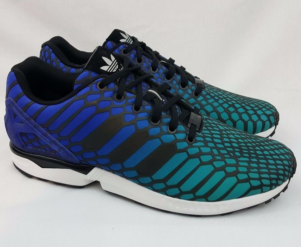 huge discount 1ab63 79a37 New Adidas Xeno Rainbow Reflective ZX FLUX Mens Running ...
