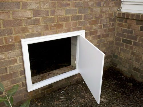 Crawl Space Doors Crawl Space Door Diy Crawlspace Crawl Space Cover