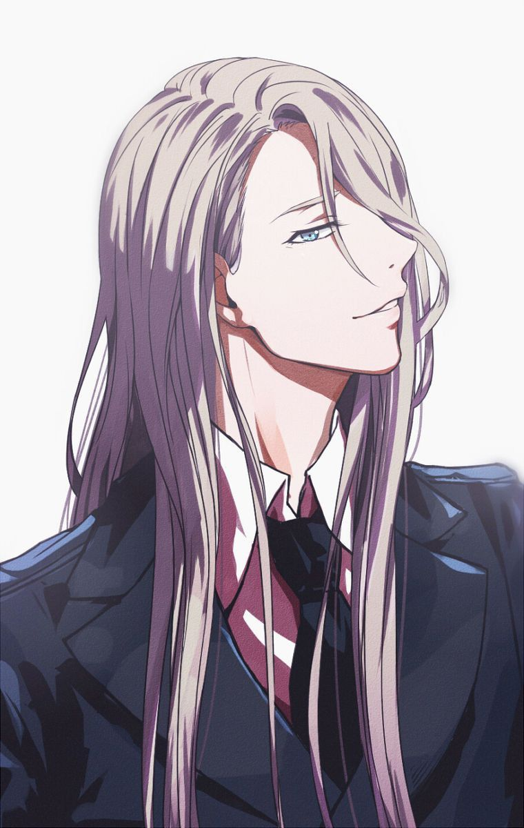 anime male long hairstyles