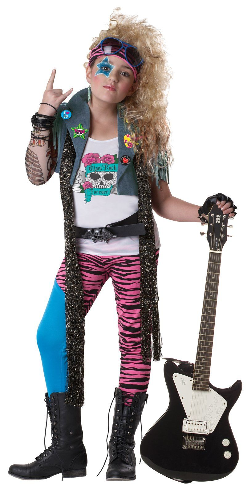 child 80s punk rock star costume for girls | hollowen | pinterest