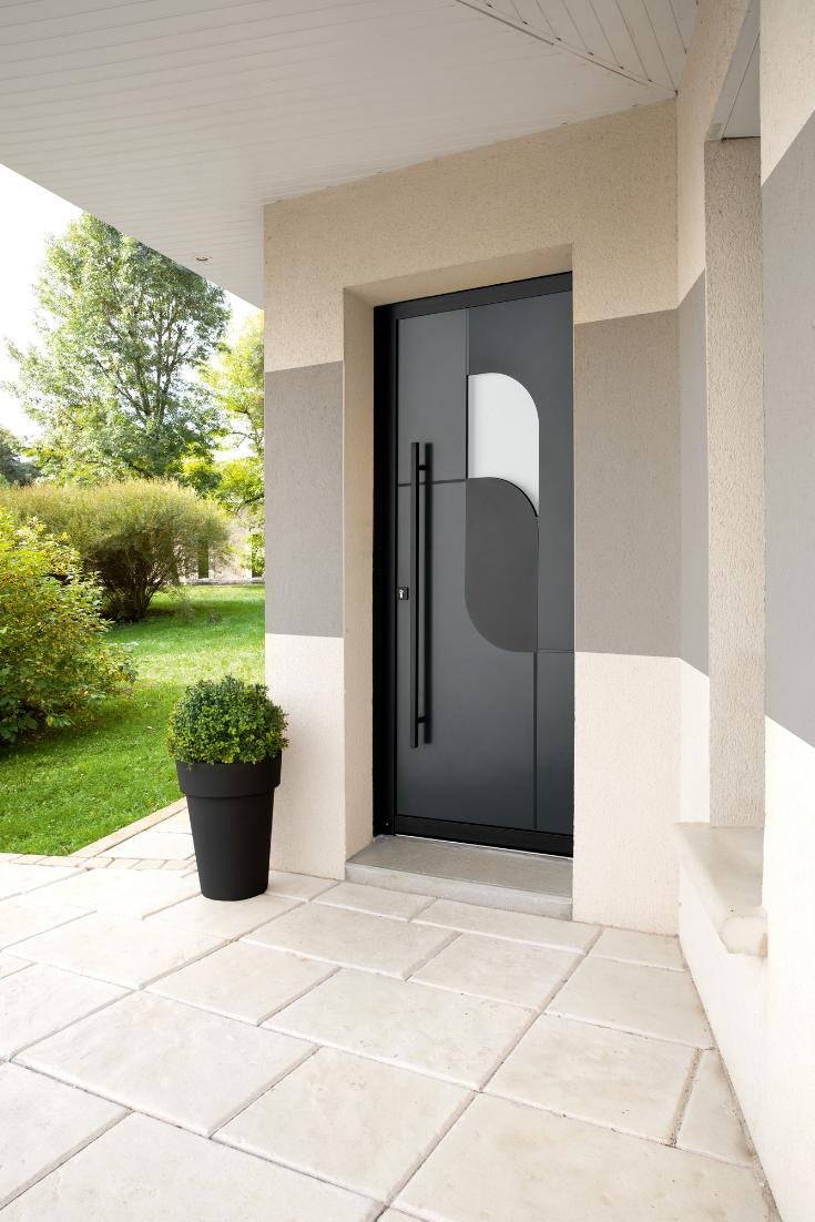 Porche D Entrée Maison Contemporaine Épinglé par sunf .lower sur doors | entrée maison moderne