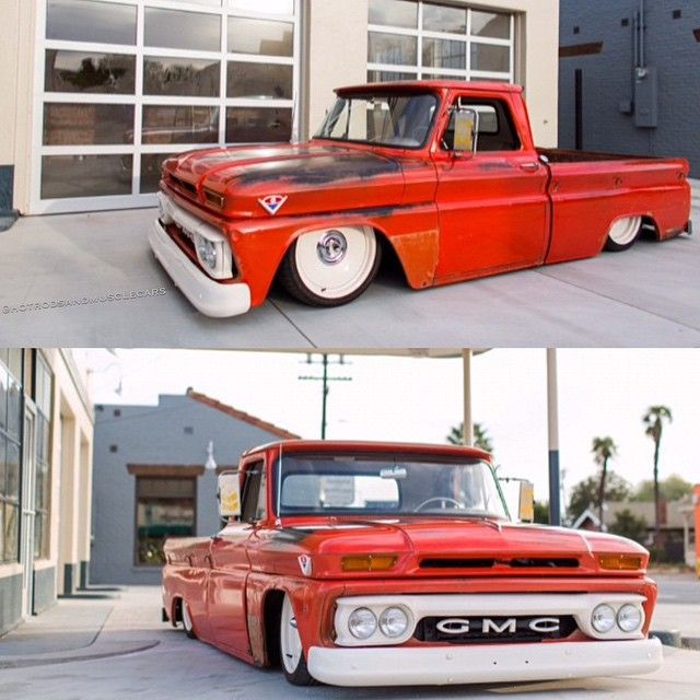 """""""Wow #Hotrodsandmusclecars fans! Check out this dope '64 gmc for sale by @ctpconcepts ! This is one bagged beauty!  @cameroningalls ! TAG some friends,…"""""""