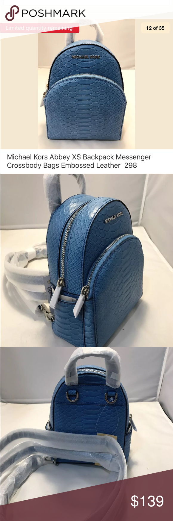 0520835aa9 Abbey X-small Backpack to Crossbody Bag Sky Blue Abbey Extra Small Backpack  Messenger Cross