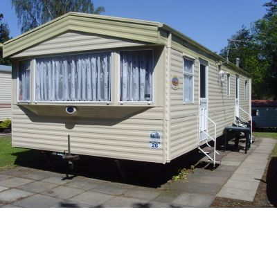 Caravan at Haggerston is 8 berth 3 bedroom 35 X 12 feet long. With all mod cons. Tv, Freeview, Dvd player, Iron + Board, Hoover pots and pans etc.. Well located on site only 30 seconds away from the main Complex and near the tennis courts.
