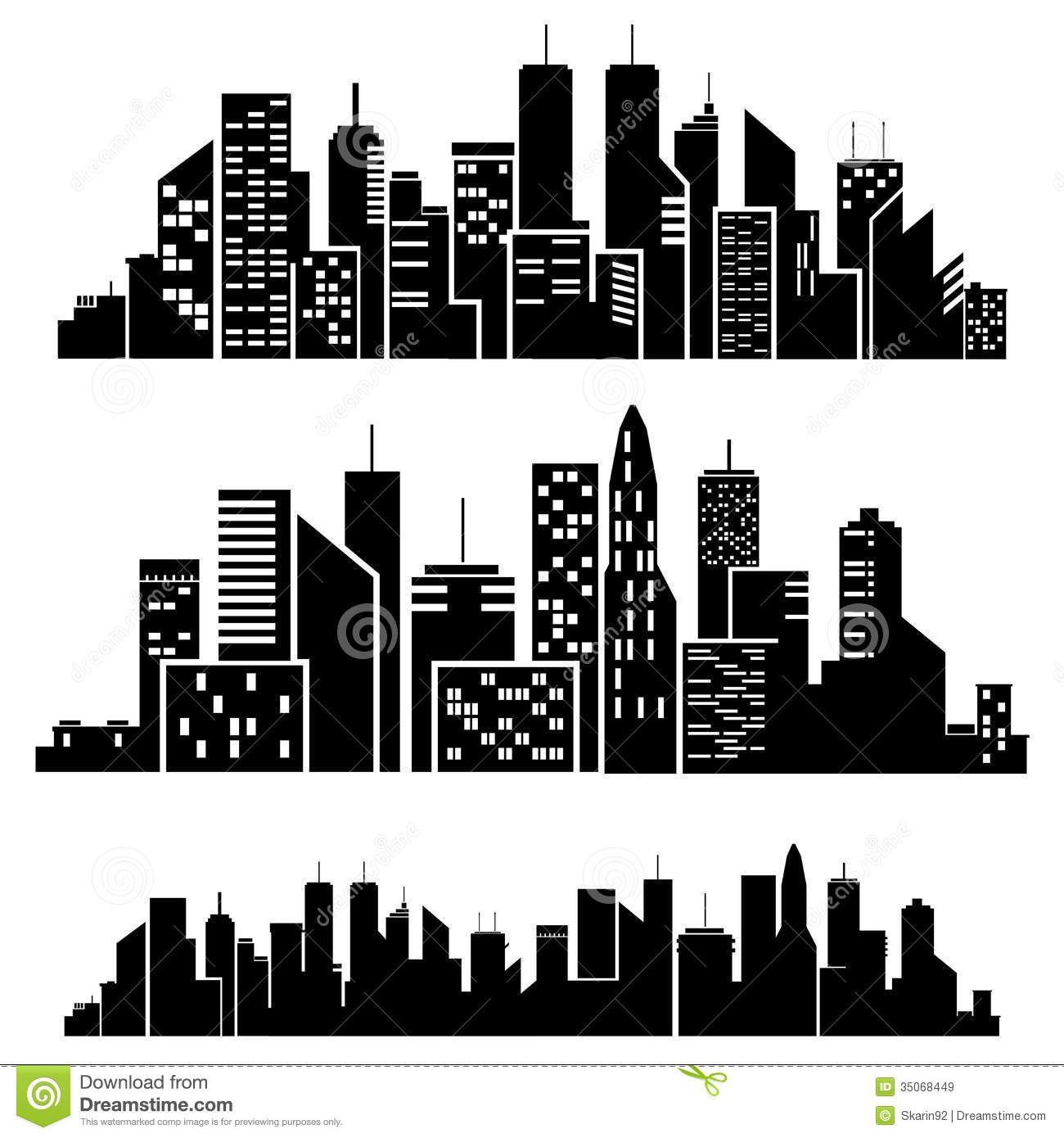 silueta de las ciudades del vector descarga de over 44 millones de fotos de alta calidad e. Black Bedroom Furniture Sets. Home Design Ideas