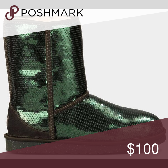 Green Sequin Ugg Boots
