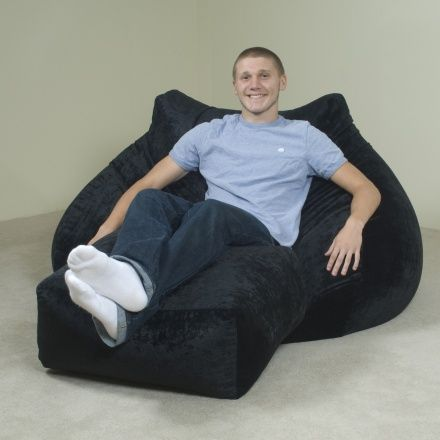 Adult 2 Seater Bean Bag Chair With Ottoman