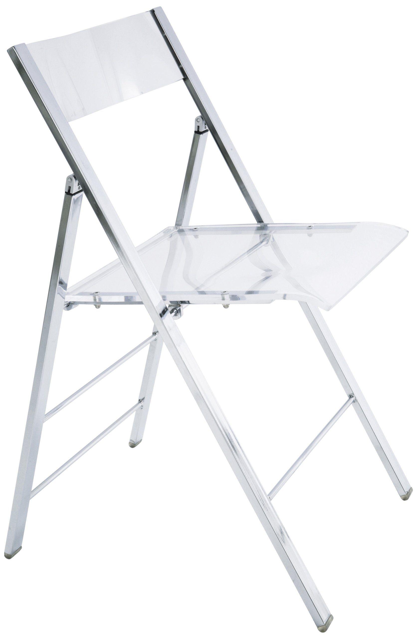Kare 8312 Folding Chair Retro Acrylic Transparent