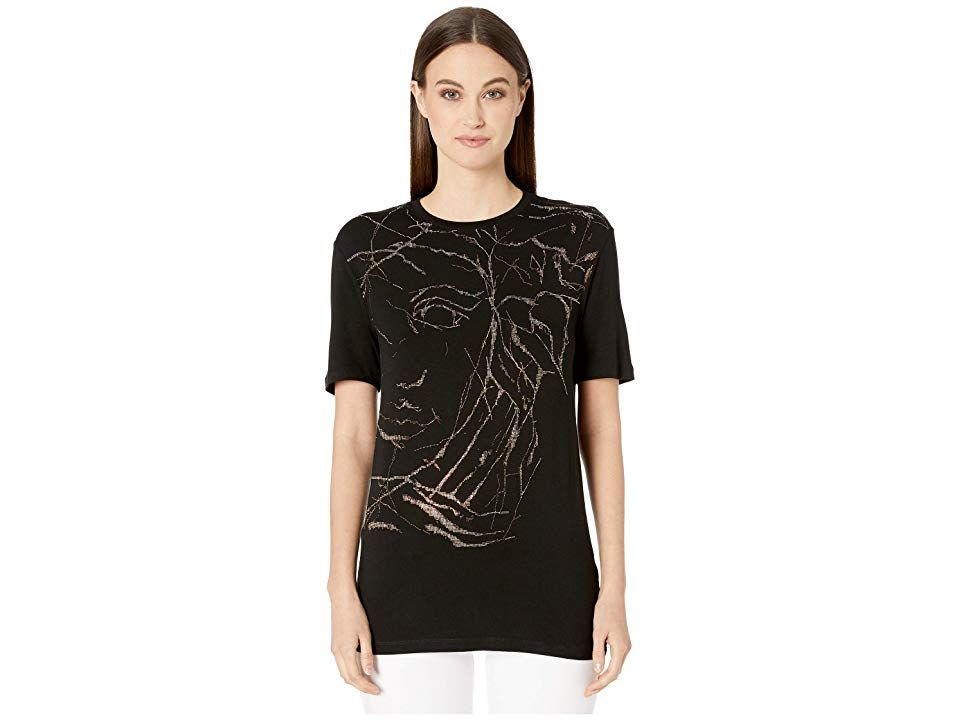 Versace Collection Medusa Oversized T Shirt Women S Clothing Black Free Clothes Versace Collection Oversized Tshirt